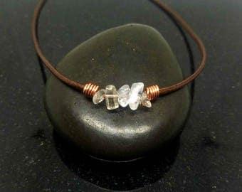 Clear Quartz necklace choker, Healing Choker Necklace, Crystal Choker, Crystal choker, Crystal Necklace, Healing Jewelry, Stone Choker