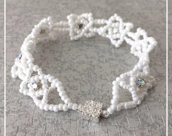 White Celtic Bracelet