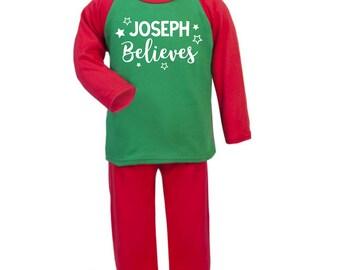 Personalised Christmas Pyjamas | Christmas Pyjamas | Christmas PJS | Xmas Pyjamas | Xmas PJS | Personalised Xmas Pyjamas | Pajamas | Eve Box