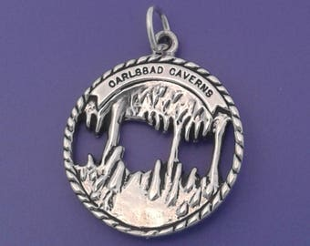 CARLSBAD CAVERNS Charm .925 Sterling Silver New Mexico Pendant - lp2025