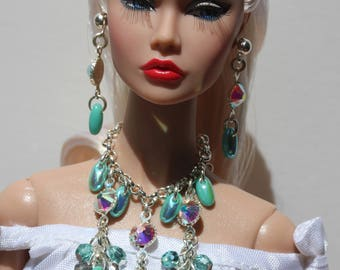 OOAK jewelry set for Tulabelle, Poppy Parker Fashion Teen and similar sized dolls