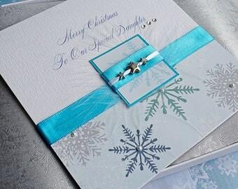 Personalised Boxed Christmas Card  for Mum, Dad, Sister, Aunt, Gran etc 'Winter Treats'