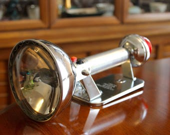 "Vintage 1960's Chrome Portable Lantern / Flashlight ~ ""Ray-O-Vac Sportsman"" ~ Made in the USA"