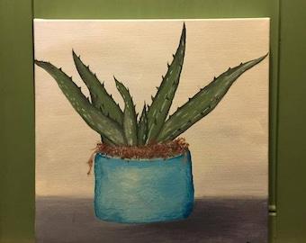 "Original 10x10 ""Aloe Vera"" Painting"