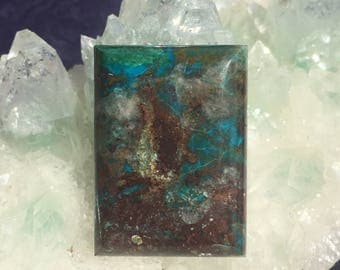 Chrysocolla Large Picturesque Rectangle approx. 31.5mm x 23mm