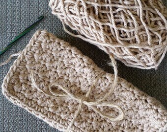 100% Cotton Dishcloths (Antique Cream), Crochet Dishcloths, Cotton Crochet Dishcloths