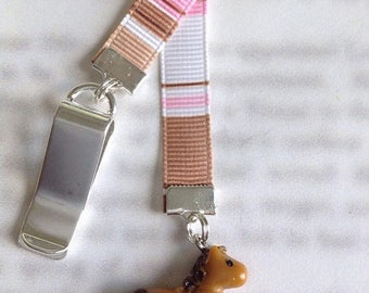 ON SALE Pony bookmark / Horse bookmark / Cute bookmark - Attach to book cover then mark the page with the ribbon. Never lose your bookmark