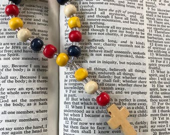 Protestant Prayer Beads for Children, Anglican prayer beads, Wooden prayer beads, prayer tools, Teach your child to pray