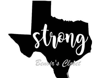Texas Strong TX,  SVG File, Vector, Cricut, Silhouette - instant download