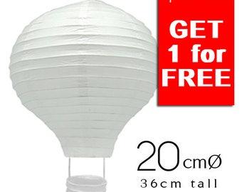 Good Deal - 10+1 White Hot Air Balloon Paper Lanterns ( 20cm) - DIY Wedding, Birthday, Party, Baby Shower, Nursery Decors
