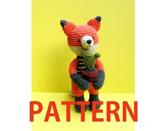 Amigurumi Crochet Pattern-fox