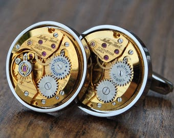 Mathey-Tissot Watch Movement Cufflinks
