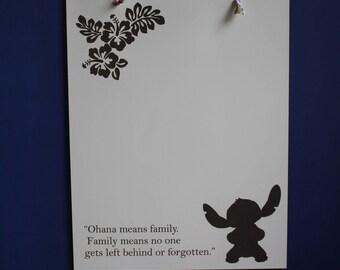 Stitch Inspired Dry Erase Board