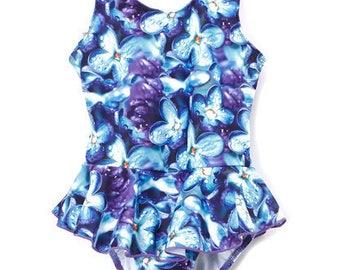 Girl's One-Piece Swimdress, Toddler One-Piece Swimwear, Swimsuit, Bathing Suit, Kid's Swimwear