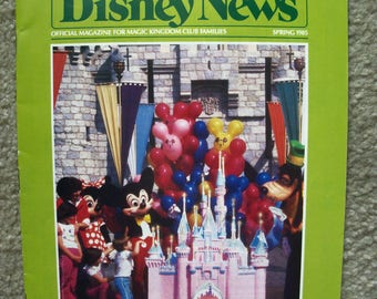 Vintage DISNEY NEWS Magazine for Magic Kingdom Members Spring 1985, Vol. 20, No. 2