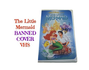 90s THE LITTLE MERMAID Vhs Tape Banned Cover Art Version Black Diamond Classics Movie Ariel Flounder Recall Discontinued Original