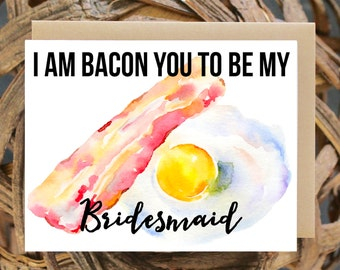 Will you Be My Matron of Honor, Funny, Brunch, Bacon, Mimosas, Avocado, Bridesmaid Proposal, Gift, Bridesmaid Box, Maid, Humor, Bridesmaid