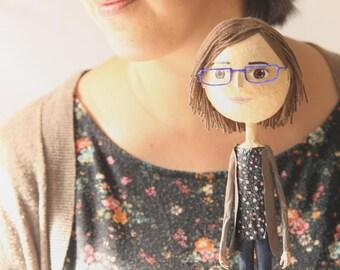 Regalo para Mujer Regalo Personalizado Regalo de Aniversario Muñecas Personalizadas Escultura Papel Maché Figura de Papel Regalo para Novia