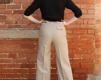 High Waisted Vintage 1970s NOS Bell Bottom Men's Pants