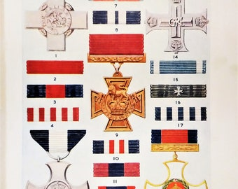 British military civil orders decorations emblems medals and ribbons awards Air Force cross war medal