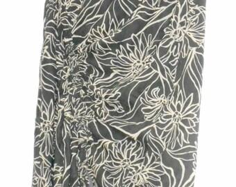 Vintage skirt, La Ligna, Dark gray skirt of fine cotton cloth