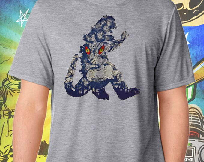 50s Godzilla Monster / Hedora Poster / Men's Gray Performance T-Shirt
