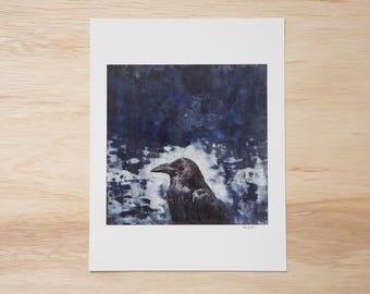 Raven Signed Fine Art Print of Original Artwork 8.5x11