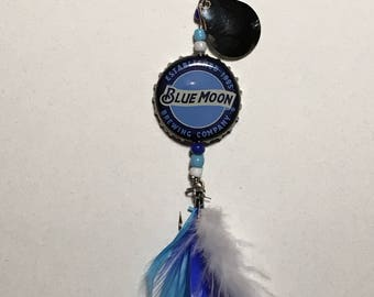 Bottle Cap Fishing Lure - Blue Moon