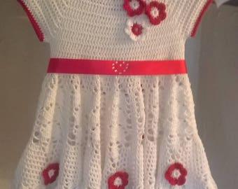Beautiful Dress,100% crochet cotton
