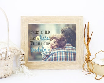 Fathers Day Gift, Custom Photo Art, Fathers Day Gift from Daughter, Birthday Gift for Dad, Art Print, Christmas Gift For Dad - 48877