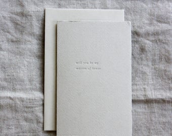 Will You Be My Matron of Honor Letterpress Card