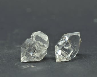 Enhydro Herkimer Diamond Quartz X 2 PIECES - HD10