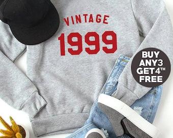 Vintage Sweatshirt 19th birthday sweatshirt 1999 birthday sweater hipster shirt jumper pullover sweatshirt crewneck sweater funny gift ideas