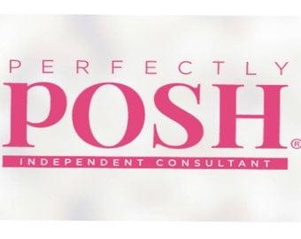 Perfectly Posh Decal,Perfectly Posh sticker,Posh sticker,Posh decal,Perfectly Posh,Posh rep sticker,Posh rep,