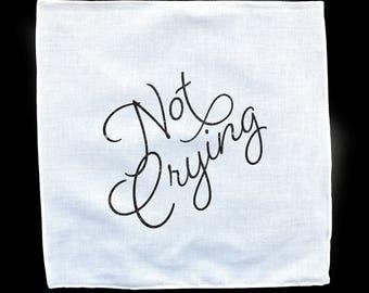 Not Crying White Handkerchief
