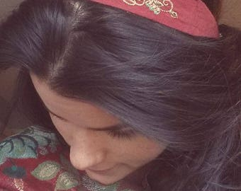 Embroidered Vintage Headband // Gypsy Inspired