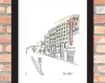 Playhouse Square Sketch