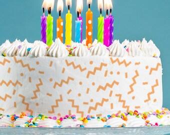 Cake Stencils- 90s Abstract Print Stencil, Birthday Cake, Wedding Cake, Celebration Cake, Washable, Reusable, Dishwasher Safe, Food Safe