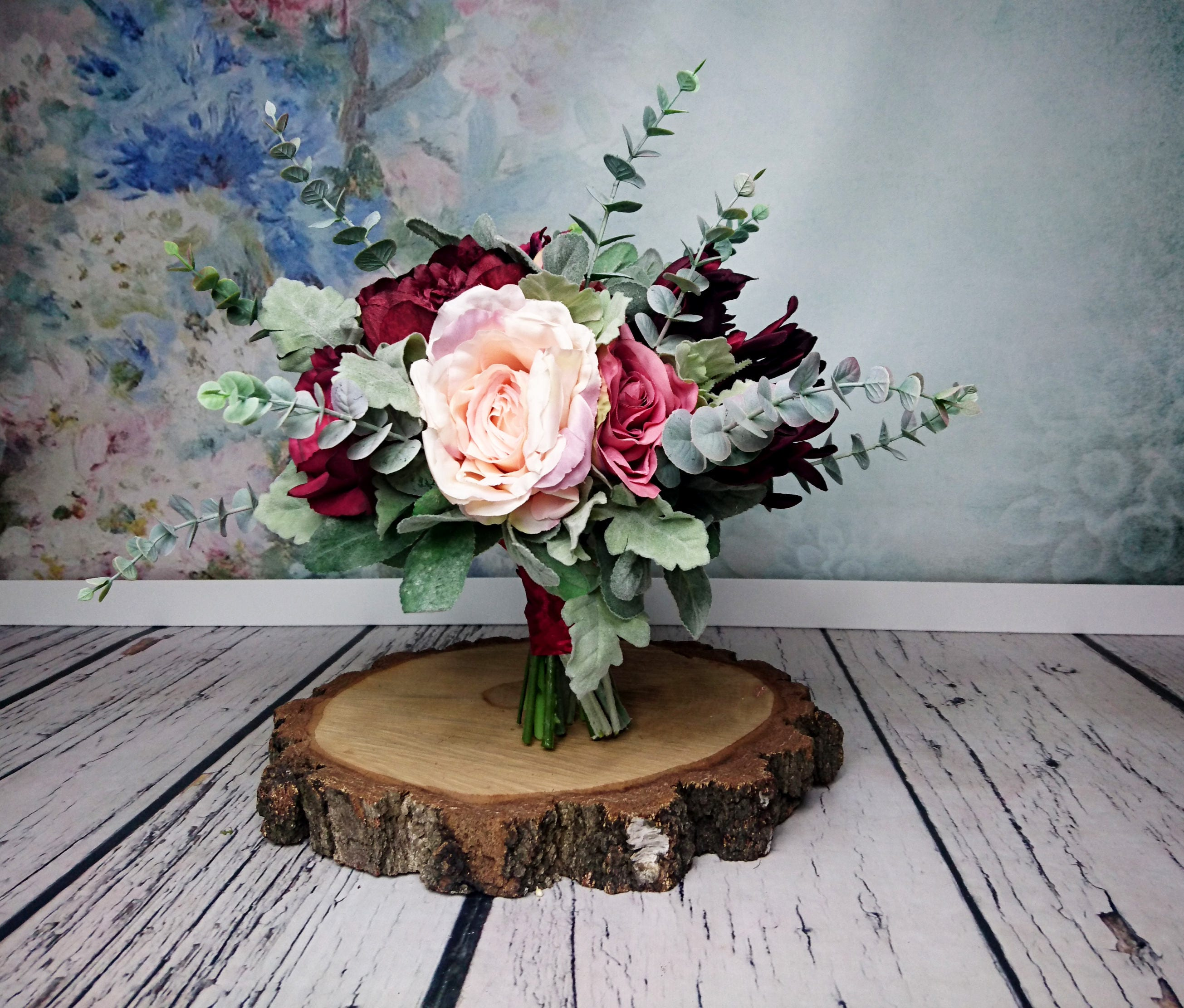 Vintage Style Large Wedding Bouquet Realistic Silk Flower