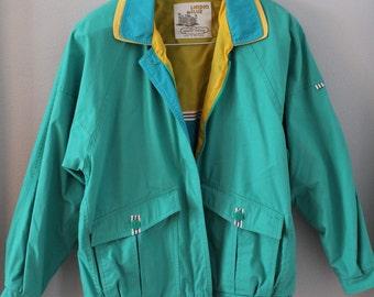 80s London Club Windbreaker Teal Spring Jacket