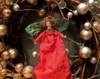 Christmas Fairy in red and tartan