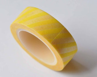 Yellow Stripes Washi Tape 15mm Wide x 10m Roll No.12600