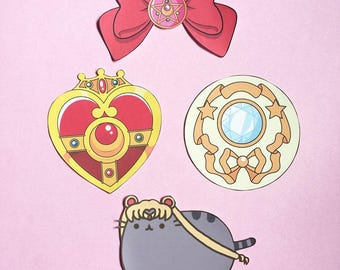 Sailor Moon Patch - Iron On Patch - Cute Patches - Kawaii Patches - Sailor Moon Brooch - Patches for Jacket - Cute Pin - Cute Badge -