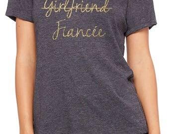 girlfriend fiance, fiance gift, fiance shirt, engaged gift, engaged shirt, engagement proposal, engaged party, shirt for fiancee, fiancee