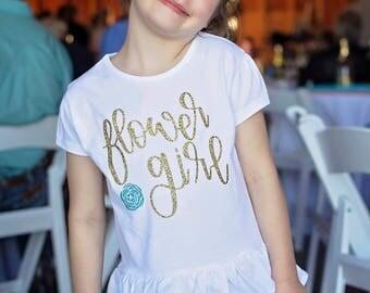 Flower Girl Shirt - Flower Girl Gift - Flower Girl TShirt - Flower Girl T Shirt - Shirt for Flower Girl - Custom Flower Girl Shirt - Wedding