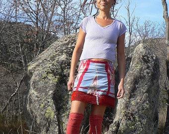 tribal summmer patchwork skirt
