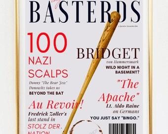 INGLORIOUS BASTERDS // Vogue Magazine Theme Printable Wall Art, Vogue Art Décor Poster, Wall Art Decor, Inglorious Basterds Movie Poster