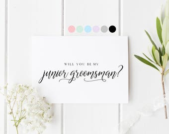 Will You Be My Junior Groomsman, Card For Junior Groomsman, Groomsman Proposal Card, Junior Groomsman Request Cards, Be My Junior Groomsman