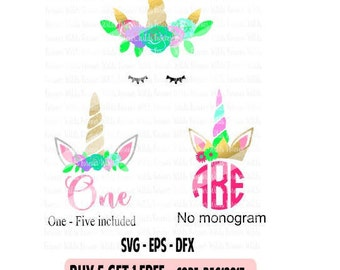 Unicorn SVG - glitter unicorn birthday svg - Unicorn one svg - Cricut svg - cameo svg - Birthday SVG - DFX - Cut file