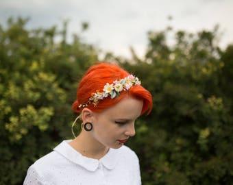 Gentle spring  hair wreath Romantic hair wreath Hair wreath in pastel combination Summer hair wreath Wedding hair accessories Hair jewellery